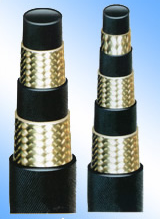 High-pressure steel braided hose